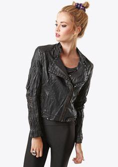 Black PU Studded Biker Jacket now Fashion Shoes, Biker, Footwear, Leather Jacket, Type, Jackets, Clothes, Shopping, Black
