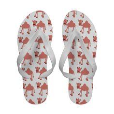 Pink Camel Flip Flops