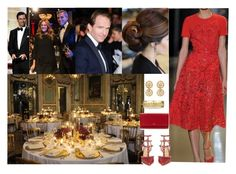 """""""Attending the 48th her aunt with a dinner organised by his two brothers Louis and Françàis and his husband Theodore with all family and friends"""" by pacqueline-ngoya ❤ liked on Polyvore featuring Ralph Lauren, Valentino and Smythson"""