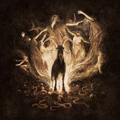"starxgoddess: "" Cover art for the upcoming full lenght album of german Black/Death Band Goath titled ""Luciferian Goath Ritual"" "" Baphomet, Black Phillip, Satanic Art, Arte Obscura, Occult Art, Season Of The Witch, Arte Horror, Metal Artwork, Dark Fantasy"