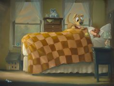 Rob Kaz - Wake Up - original oil on canvas painting