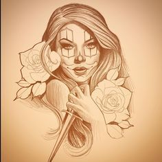 Fun times ahead, love doing Chicano style stuff Chicano Drawings, Tattoo Drawings, Art Drawings, Chicanas Tattoo, Clown Tattoo, Inca Tattoo, Tattoo Flash, Arte Cholo, Cholo Art