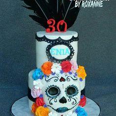 day of the dead cake #creativecakesbyroxanne #30thbirthdaycake