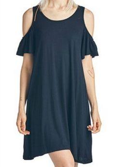 """""""Cold Shoulder"""" Jersey Dress $21.99 misscocky.com"""
