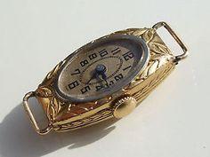 BELLE MONTRE de FEMME ANCIENNE 1920 en OR JAUNE 18K 750/1000° / Poinçon HIBOU | eBay