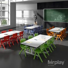 School should be a space where you must be comfortable at. A warm and friendly environment promotes affective safety and balanced personal development. Daycare Design, Classroom Design, Classroom Decor, Daycare Ideas, Kids Table And Chairs, Kid Table, Dining Table, Best School Uniform, Breakout Area