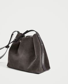 ZARA - WOMAN - MINI STUDDED LEATHER BUCKET BAG