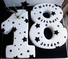 18th Birthday cake with stars