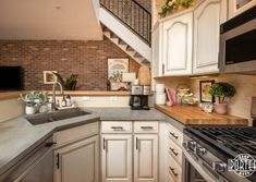 Red Elm & Concrete Countertops, this small kitchen makes a big statement with it's Red Elm bar height and GFRC concrete countertops. Concrete Countertops, Custom Wood, Barn Wood, Wood Projects, Kitchen Cabinets, Dining, Red, Home Decor, Restaining Kitchen Cabinets