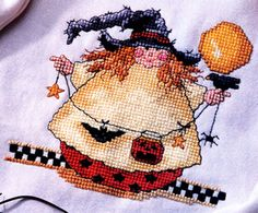 Leisure Arts - Roly-Poly Witch Cross Stitch Pattern ePattern, $2.99 (http://www.leisurearts.com/products/roly-poly-witch-cross-stitch-pattern-digital-download.html)