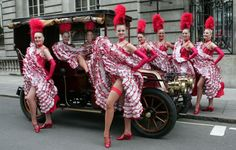 Saucy Moulin Rouge dancers launched the festivities surrounding the 2008 London to Brighton Veteran Car Run by greeting a Renault at the end of its journey from the world-famous Parisian cabaret venue. Moulin Rouge Dancers, Moulin Rouge Paris, Le Moulin, Bustiers, Cabaret, Veteran Car, This Girl Can, Shall We Dance, Professional Dancers