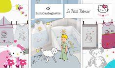 Création d'un visuel pour couffin privé de produit de licence Hello Kitty, Le petit prince et Lulu castagnette