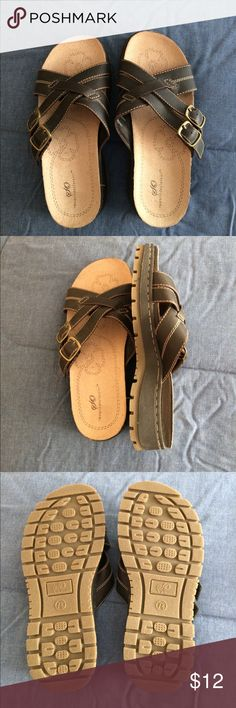 SO sandals brown sandals These sandals have never been worn. In great condition. Shoes Sandals
