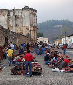 street market in Guatemala