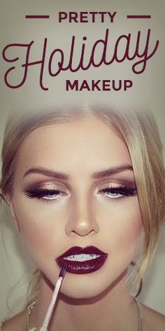 Get inspired this holiday with pretty makeup looks that'll turn heads! #makeup #tutorial #holidays