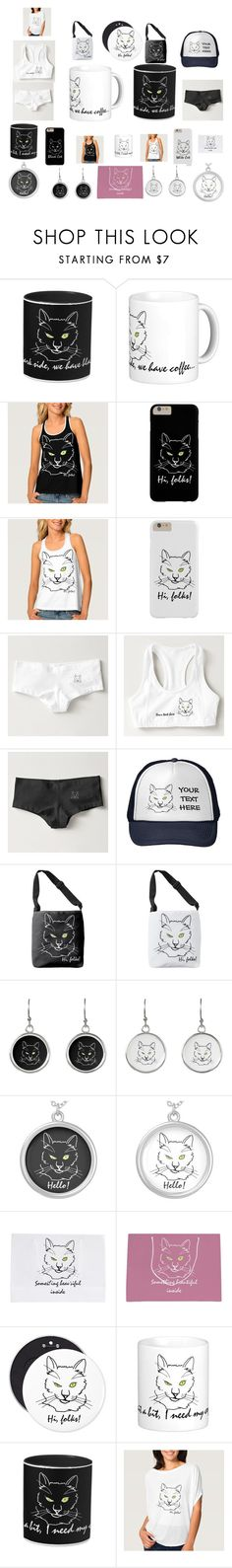 """Cat Black And Cat White"" by polyart-466 ❤ liked on Polyvore"