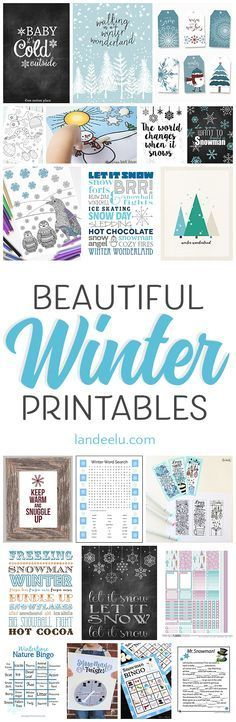 So many beautiful and fun winter theme printables all in one spot! Find your inner Elsa and create a winter wonderland in your home!