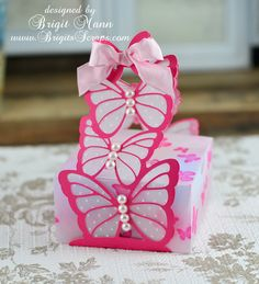 Isn't this gorgeous!  Brigit created her Butterfly Favor Box using all plain vellum, but I see patterns!  Check out her page and see what she did! http://www.brigitsscraps.com/2013/03/butterfly-box.html
