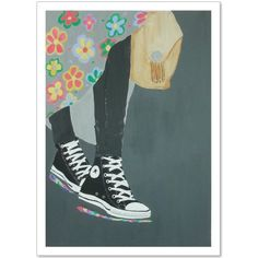Collect your choice of gallery quality Giclée, or fine art prints custom trimmed by hand in a variety of sizes with a white border for framing. Converse Chuck Taylor, High Top Sneakers, Fine Art Prints, Fashion Accessories, Stuff To Buy, Collection, Shower, Gallery, Illustration