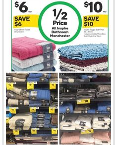 #woolworths has the whole range of 'Inspire' branded bathroom manchester #onsale for #halfprice. Available until 7.2.17