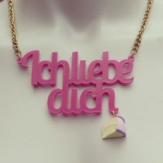 Ich Liebe Dich with cake charm