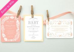 Three Project Nursery readers will each win a MyPublisher Baby Announcement package with 20 personalized cards.