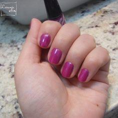 Esmalte da Semana   Apuro Violeta (Risqué)   Nail Polish   Desafio 31 unhas   Perspectiva Laranja
