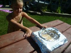 Make a Solar Pizza Oven, science experiment outside with the kids