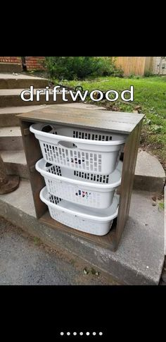 Laundry Basket Holder - Fits and includes 3 premium laundry baskets, they are 1.5 bushel. The dropdown menu lets you choose different colors and variations. If you dont see what you are needing feel free to contact us and we will see if we can help. This laundry basket holder is rustic and Laundry Basket Holder, Laundry Basket Organization, Laundry Organizer, Plastic Laundry Basket, Laundry Baskets, Clothes Basket, Flat Shapes, Easter Bunny Decorations, Craft Stick Crafts