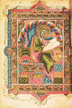 MINIATURES - Erevan, Matenadaran, MS 7639, Gospel, Isfahan, 1610, artist Hakob Jughayets'i, St. Matthew. Photo: Ara Güler