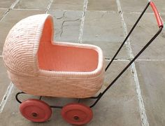 Vintage Plastic Dolls Pram 1960 s, this is cute though, can remember seeing 1980s Childhood, My Childhood Memories, Sweet Memories, Pram Toys, Dolls Prams, Vintage Pram, Vintage Dolls, Retro Toys, 1960s Toys