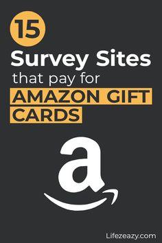 Legit Paid Surveys, Online Surveys That Pay, Survey Sites That Pay, Online Jobs, Make Money From Home, Make Money Online, How To Make Money, Amazon Card, Amazon Gifts