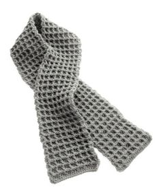 Waffle Knit Scarf by lionbrand: So cozy! #Scarf #Knitting #lionbrand