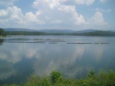 Lake Willamena near Mena, Arkansas in the middle of the Ozark Mountains.