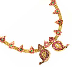 It's gorgeous. Gold with rubies. Indian Temple Jewelry.