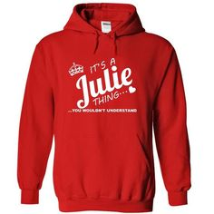 P - Its a Julie THING  - #boyfriend gift #cool gift. PRICE CUT  => https://www.sunfrog.com/Names/P--Its-a-Julie-THING-5833-Red-Hoodie.html?id=60505