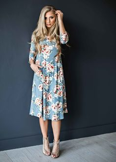 $42! http://www.shopjessakae.com/dresses/sky-blue-rose-midi-dress