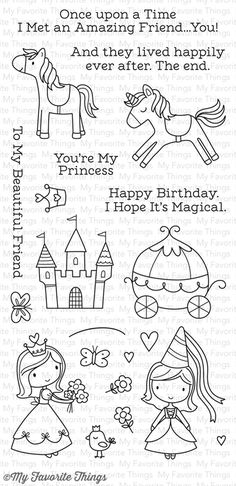 Once upon a Time stamp set #mftstamps