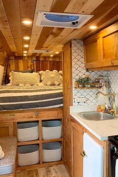 45 Cheap Beautiful Ideas For Your Camper Van Project 45 Cheap Amp Beautiful Ideas For Your Camper Van Project House Topics Small Camper Vans, Small Campers, Diy Camper, Camper Life, Build A Camper Van, Bus Life, Kombi Home, Van Home, Camper Van Conversion Diy