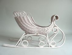 Wicker Decorative Sleigh