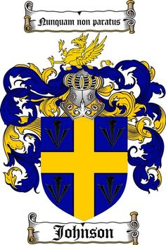 JOHNSON FAMILY CREST - COAT OF ARMS gifts at www.4crests.com