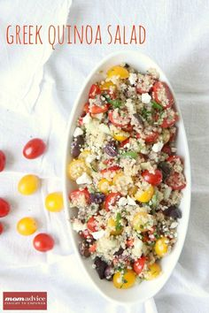 Greek Quinoa Salad from MomAdvice.com- perfect for your next cookout!