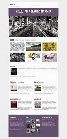 Klou #WordPress #Portfolio Theme – Homepage Screen Shot View www.wpchats.com