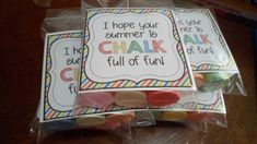 Chalk, end of year gifts, free printables