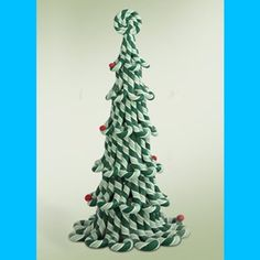 Set of 13 Embellished Green Candy Cane Tree Tabletop Christmas Decoration * Want additional info? Click on the image.