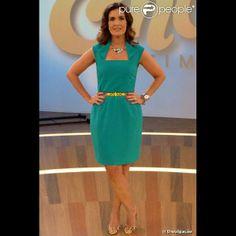 O novo visual de Fátima tem agradado ao mulherio e ela está no ranking dos look mais queridos do Projac