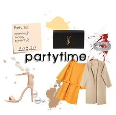"""My style#15"" by reka-szabadi on Polyvore featuring Post-It, MANGO, Yves Saint Laurent, Charlotte Russe, Mara Hoffman, party, casualoutfit and partytime"