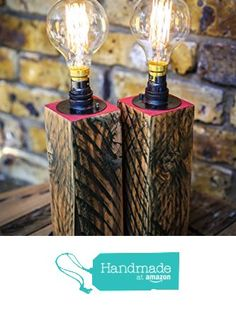 A Pair of Tall Reclaimed Wood Table Lamps by MooBoo Home from MooBoo Home https://www.amazon.co.uk/dp/B01LYMSOH4/ref=hnd_sw_r_pi_dp_e5o6xbJ1BYP38 #handmadeatamazon