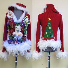 Glam  Beaded Tacky Ugly Christmas Sweater by tackyuglychristmas