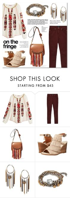 """""""Festival Trend: Fringe"""" by anyasdesigns ❤ liked on Polyvore featuring Calypso St. Barth, GANT, Chloé, Volatile, Kenneth Cole, fringe, casualoutfit, fashionset and springdate"""
